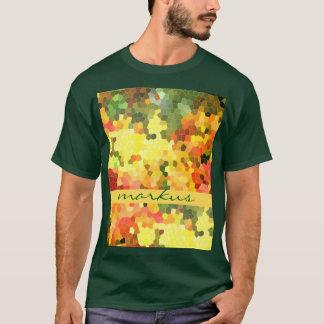 T-shirt L'érable d'automne d'abrégé sur en verre souillé