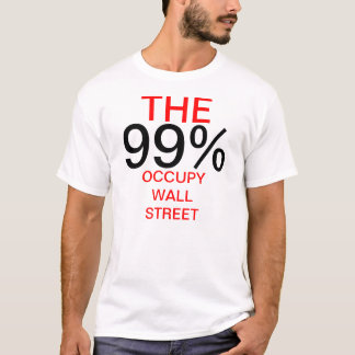 T-SHIRT LES 99% OCCUPENT WALL STREET