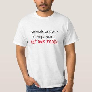 T-shirt Les animaux végétaliens de chemise sont notre