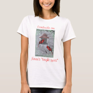 """T-shirt , Les cardinaux sont, Br de la nature le """"…"""