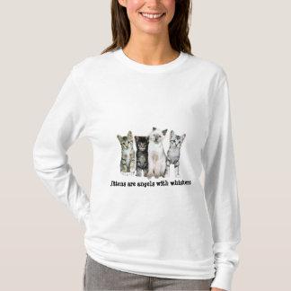 T-shirt Les chatons sont des anges avec des favoris