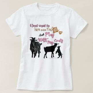 T-shirt Les CHÈVRES | veulent avoir un certains thé et jeu