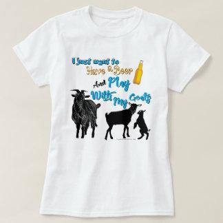 T-shirt Les CHÈVRES | veulent avoir une bière et un jeu