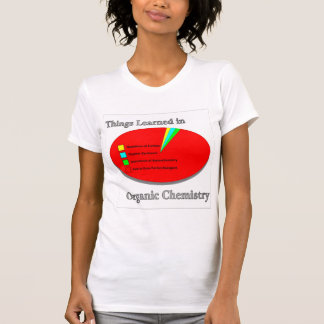 T-shirt Les choses I appris en chimie organique
