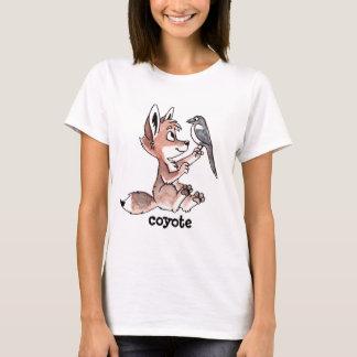 T-shirt Les dames de coyote et de pie ont adapté la