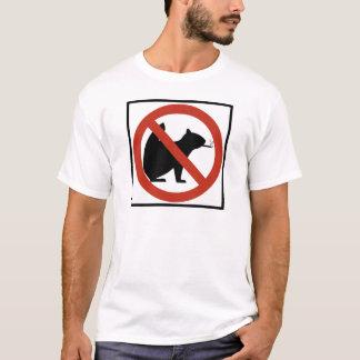 T-shirt Les écureuils non-fumeurs ont permis le signe de