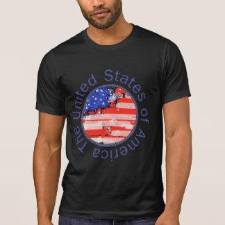 T-shirt les Etats-Unis d'Amérique. drapeau