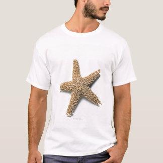 T-shirt Les étoiles de mer écossent sur l'arrière - plan
