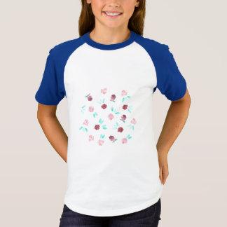 T-shirt Les filles de fleurs de trèfle court-circuitent le