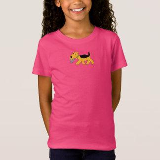 T-Shirt Les filles mignonnes de casquette du chien W