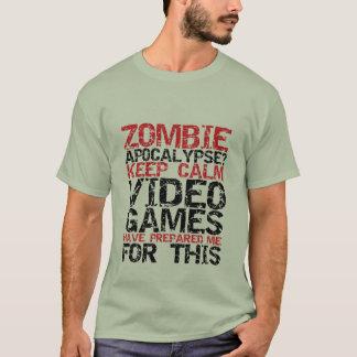 T-shirt Les Gamers d'apocalypse de zombi gardent le