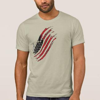 T-shirt les grandes rayures d'étoile de drapeau des USA de