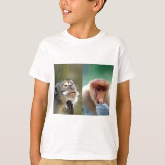 T-shirt Les grands esprits pensent les singes de buse