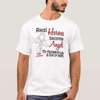 T-shirt Les héros deviennent cancer de poumon de beau-père