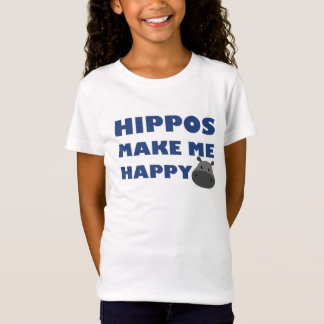T-Shirt Les hippopotames me rendent heureux