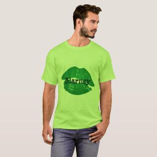 T-shirt Les Irlandais verts drôles embrassent la copie de
