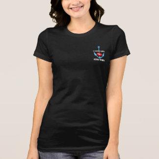 T-shirt Les lèvres lâches supérieures de chemise de partie