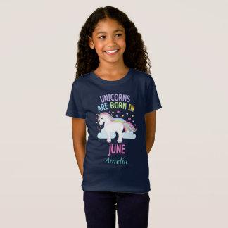 T-Shirt Les licornes sont nées en juin personnalisées