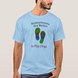 T-shirt Les lunes de miel sont meilleures dans des