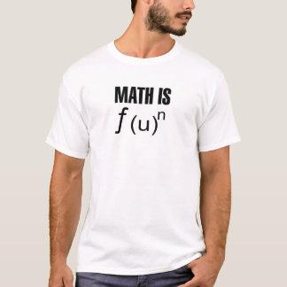 T-shirt Les maths sont amusement