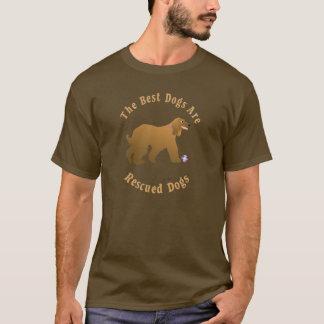 T-shirt Les meilleurs chiens sont lévrier afghan secouru)