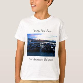 T-shirt Les otaries #6 de la jetée 39 de San Francisco