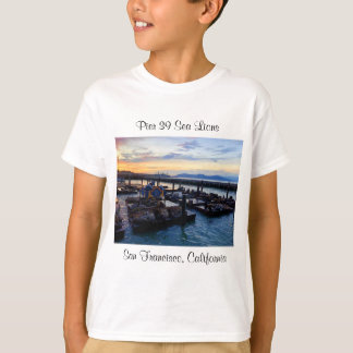 T-shirt Les otaries #9 de la jetée 39 de San Francisco