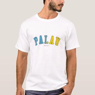 T-shirt Les Palaos dans des couleurs de drapeau national