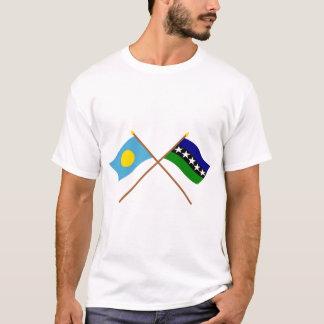 T-shirt Les Palaos et drapeaux croisés par Aimeliik