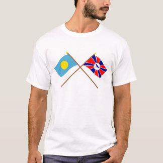 T-shirt Les Palaos et drapeaux croisés par Melekeok