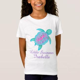 T-Shirt Les petites filles mignonnes de nageur dentellent