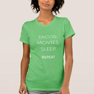 T-shirt Les tacos des femmes, films, chemise de sommeil