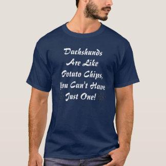 T-shirt Les teckels sont comme… la chemise