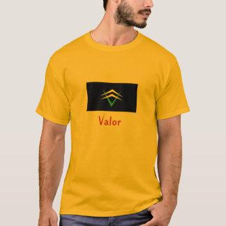 T-shirt Les valeurs, le passent dessus : Bravoure