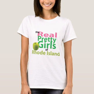 T-shirt Les vraies jolies filles d'Île de Rhode