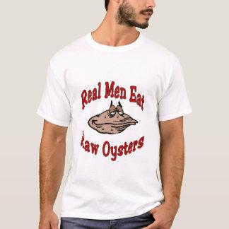 T-shirt Les vrais hommes mangent des huîtres