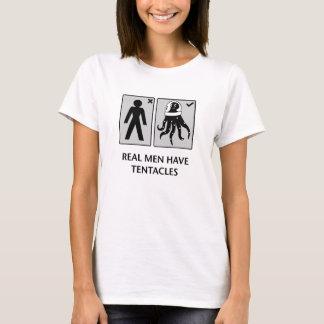 T-shirt les vrais hommes ont des tentacules