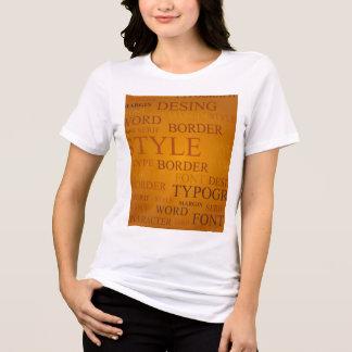 T-shirt lettres