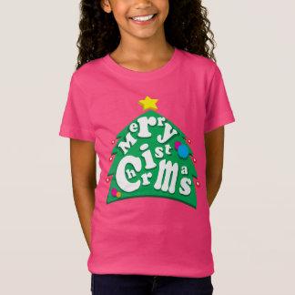 T-Shirt Lettres d'arbre de Joyeux Noël