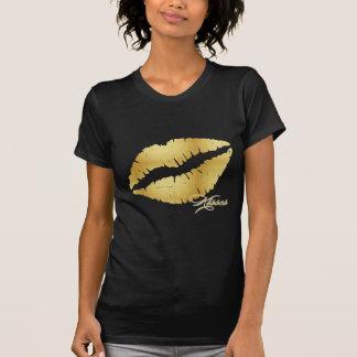 "T-shirt Lèvres ""baisers "" d'or"