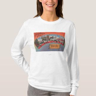 T-shirt Lewiston, Maine - grandes scènes de lettre