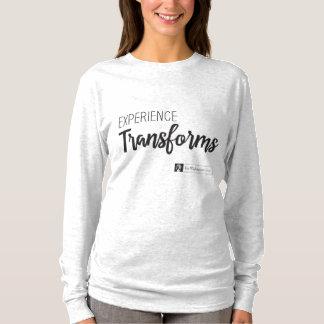 T-shirt L'expérience transforme la chemise en coton