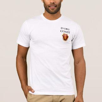 T-shirt L'héritage raye la préparation de la CÔTE D'IVOIRE