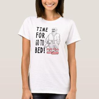 T-shirt L'heure pour vont au lit