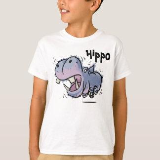T-shirt L'hippopotame badine la chemise