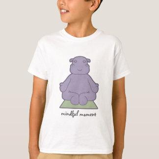 T-shirt L'hippopotame conscient de moment badine le