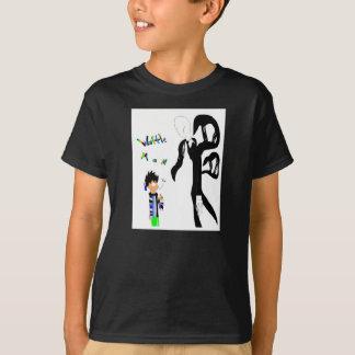 T-shirt L'homme de gaufre rencontre Slenderman