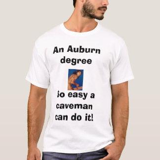 T-shirt l'homme des cavernes, un degreeSo auburn facile un