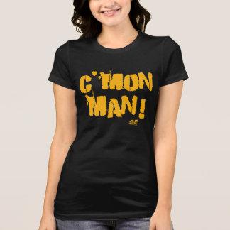 T-shirt L'homme des femmes C'mon ! Noir et pièce en t de