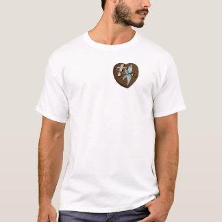 T-shirt Libellule en verre souillé pour l'amour et la